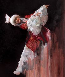 "Kazak dancer 30""x40"" - Sold"