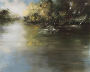 "Morning fog 30""x28"" - Sold"