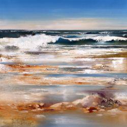 """Ocean wave 30""""x30"""" - Sold"""