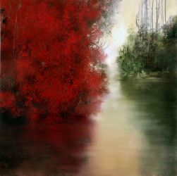 "Red morn 30""x30"" - Sold"
