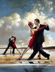 "Tango on the beach 30""x40"" - Sold"