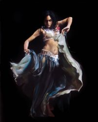 "Turkish dancer 30""x40"" - Sold"